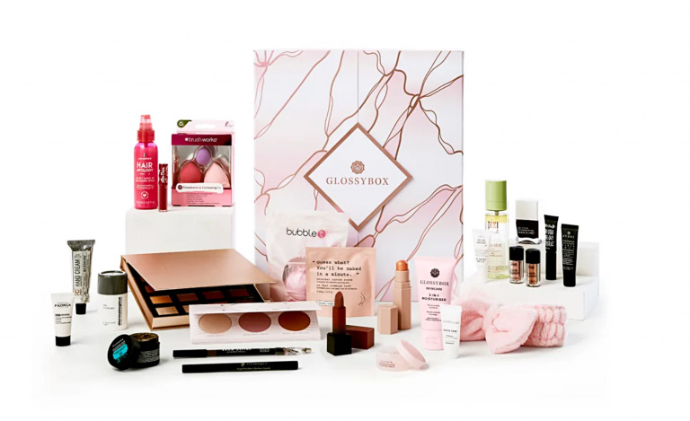 Picture with the Glossybox Advent Calendar 2020