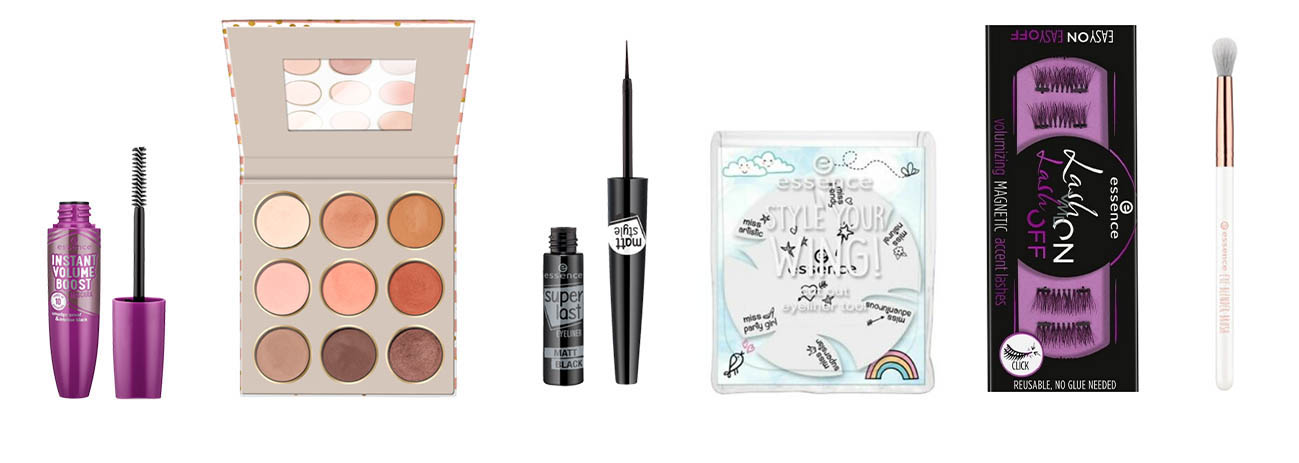Picture of the makeup items intended for the eyes in the Essence Beauty Advent Calendar 2020