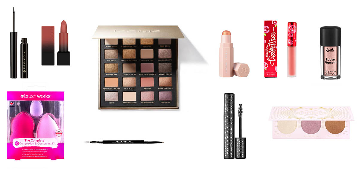 Makeup products in the Glossybox Advent Calendar 2020