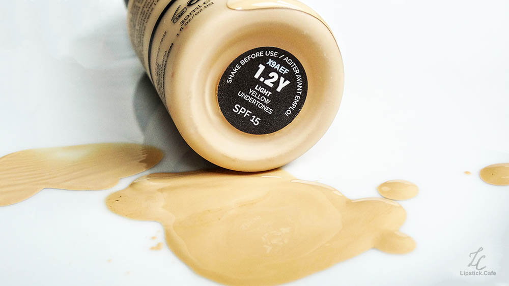 Spilled foundation in yellow undertone The ordinary Serum Foundation