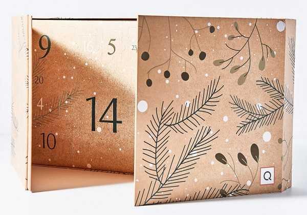 box of the qvc chrsitmas beauty advent calendar 2021